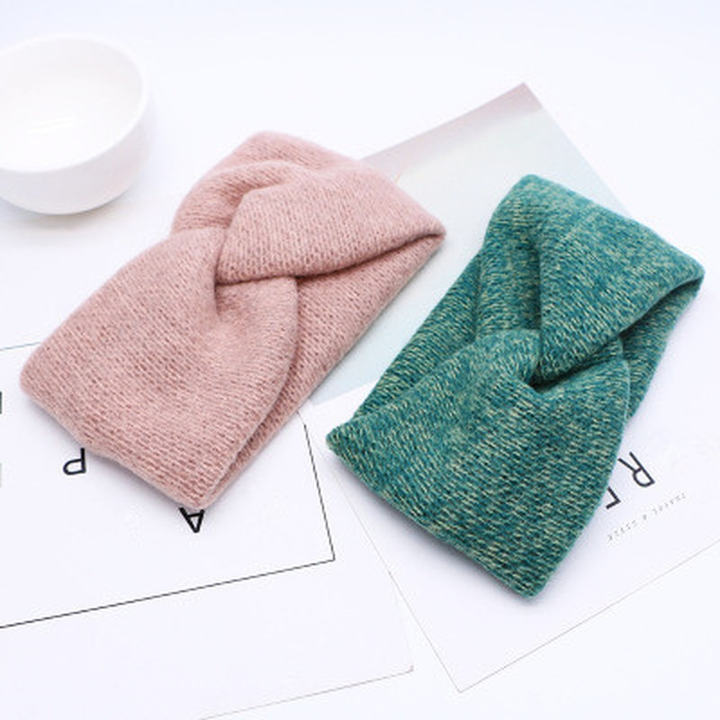 Winter Women Headband for Autumn Winter Crochet Headbands Cross Wool Knitted Hair Band Turban Vintage Hair Accessories Head Wrap