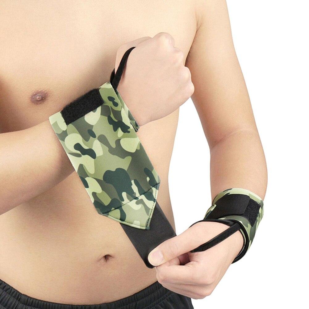 Muñequera de camuflaje de compresión de nailon, muñequera para gimnasio, muñequera de levantamiento de pesas, muñequera de baloncesto, 1 Uds BHD2