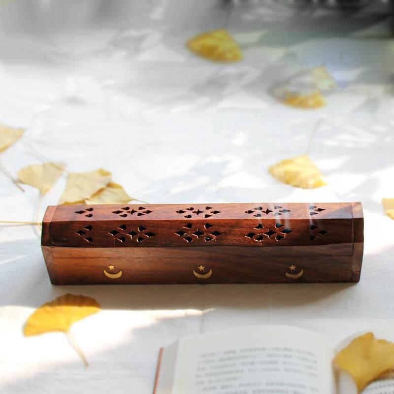 Envío Gratis hecho a mano quemador de incienso palo de uso Dual Stick cono soportes para incienso mosaico de madera incienso indio soportes para incienso