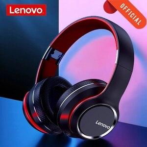 Image 1 - Lenovo HD200 Bluetooth беспроводные стерео наушники BT5.0 долгого ожидания жизни с закрывающие шум для мобильных телефонов Lenovo гарнитура