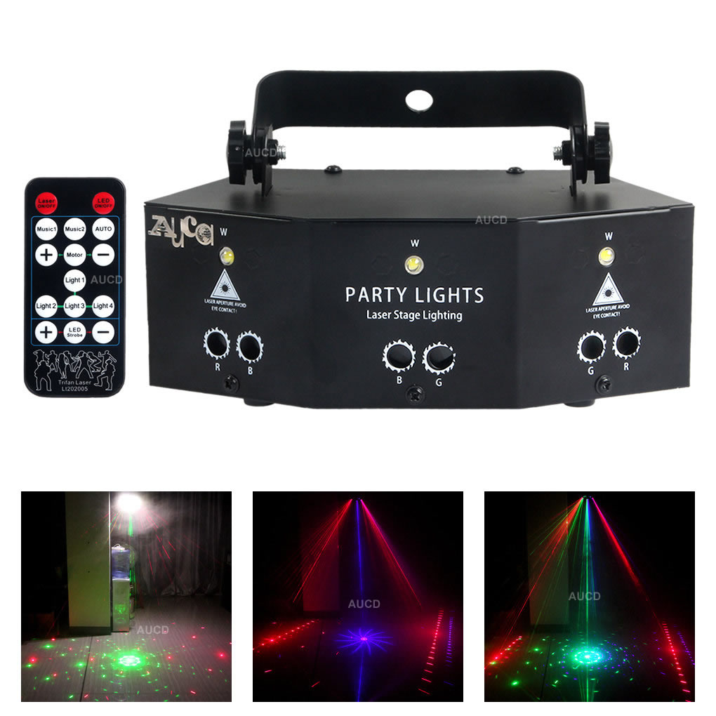 مصباح موسيقى LED مع 9 عيون ، جهاز عرض ليزر RGB للمرحلة ، ديسكو دي جي ، ديكور حفلات المنزل