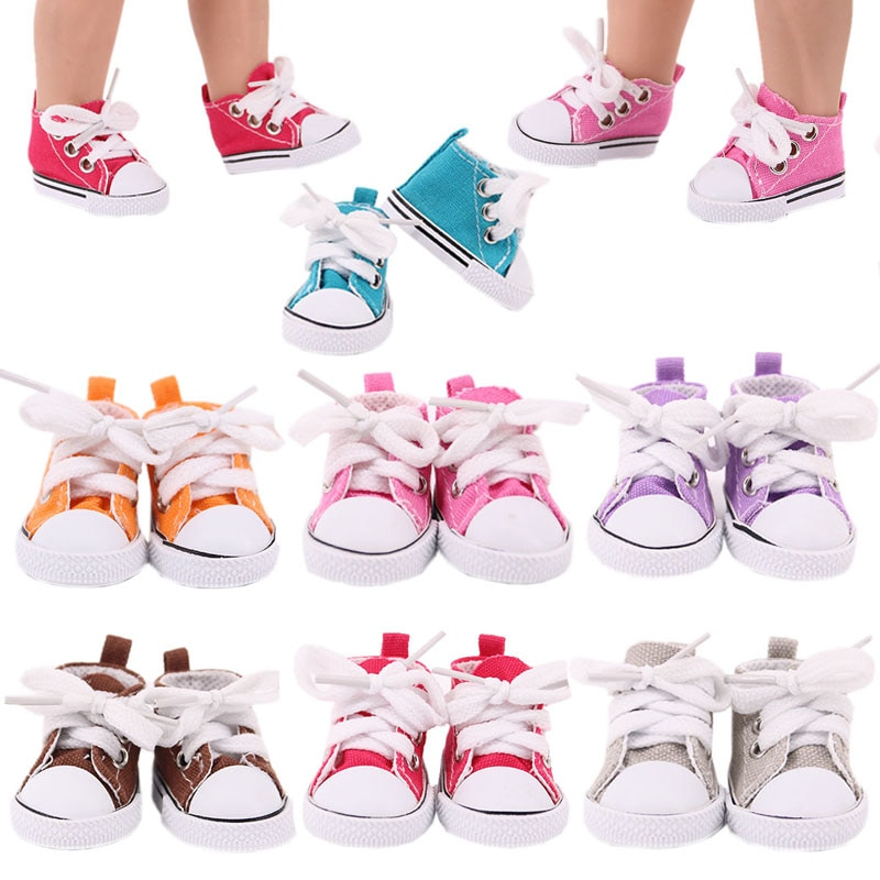 Doll Shoes 5 Cm Canvas Shoes Denim Sneakers For 14.5 Inch Nancy American Doll&BJD EXO Doll Boots Dol