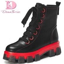 Doratasia 2020 loisirs en cuir véritable marque design cool rue bottines femme chaussures femmes motos bottes femme