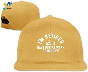 Yellowpods I'm Retired Have Fun At Work Men's Relaxed Medium Profile Adjustable Baseball Cap