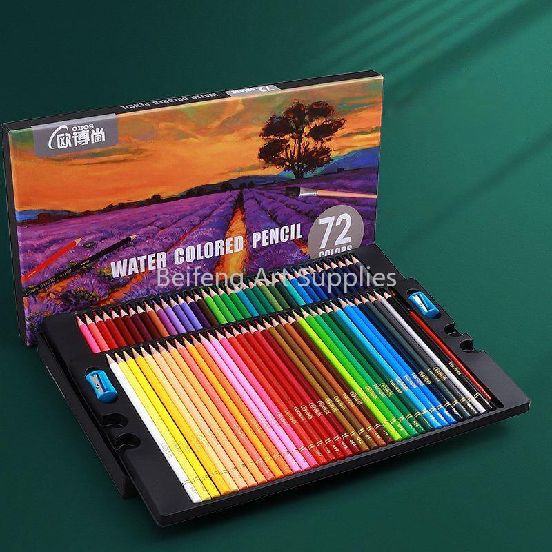 48/72/120/160 Color Professional Water Color Pencils Wood Soft Watercolor Pencil For School Draw Sketch Art Supplies