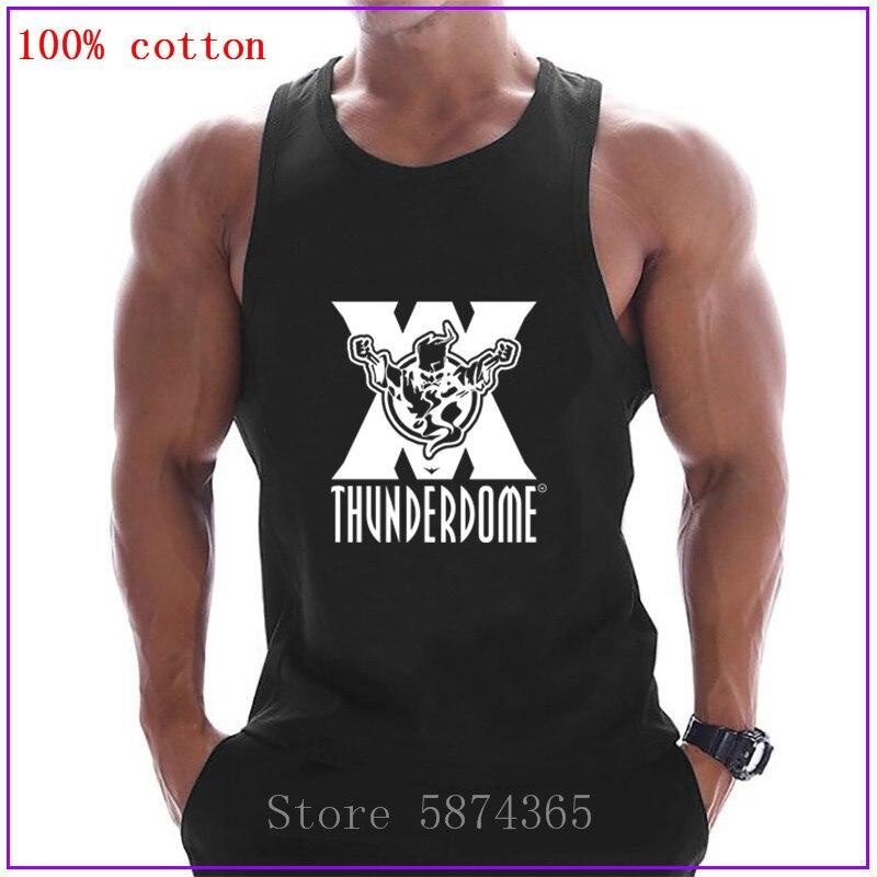 Männer Tank Top Thunderdome Hardcore Techno und Gabber weiß Casual Fitness Mode Tank Tops Männer Einfache Tragen Unterhemd Weste
