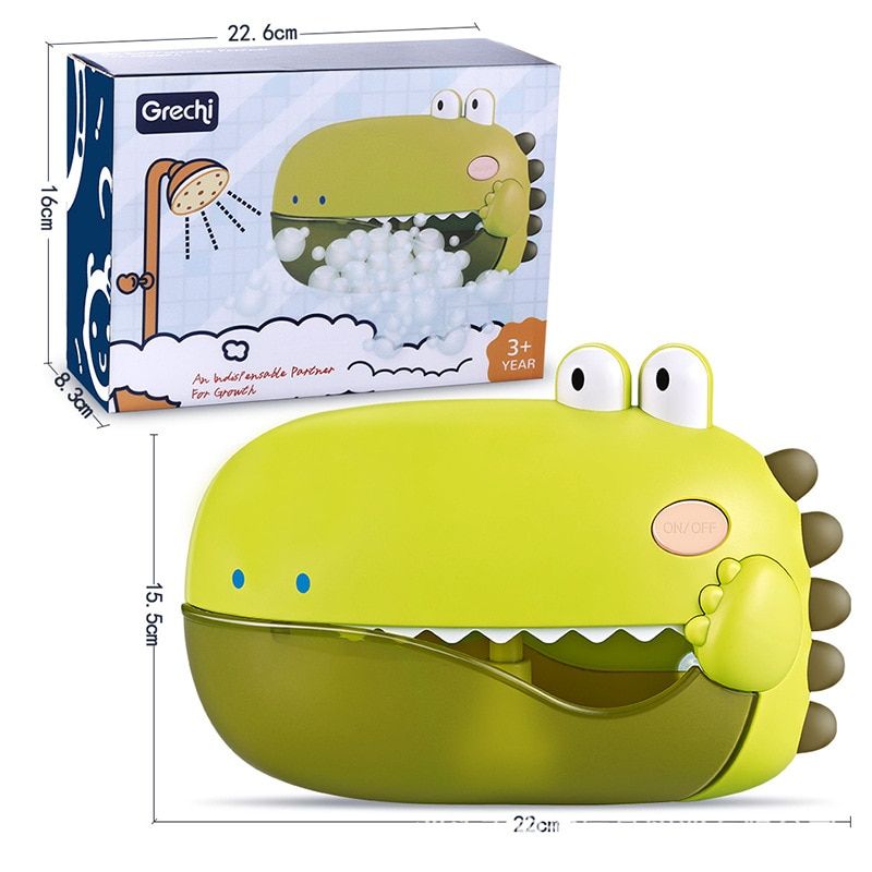 Машинка для мыльных пузырей для детей, для мальчиков, для младенцев, машинка для мыльных пузырей, Электрический динозавр, игрушки для ванной...