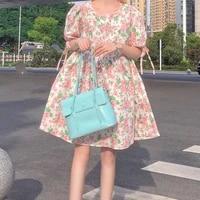 y2k japanese cute floral print dress one piece women dress vintage korean sweet kawaii casual loose female dress summer vestidos