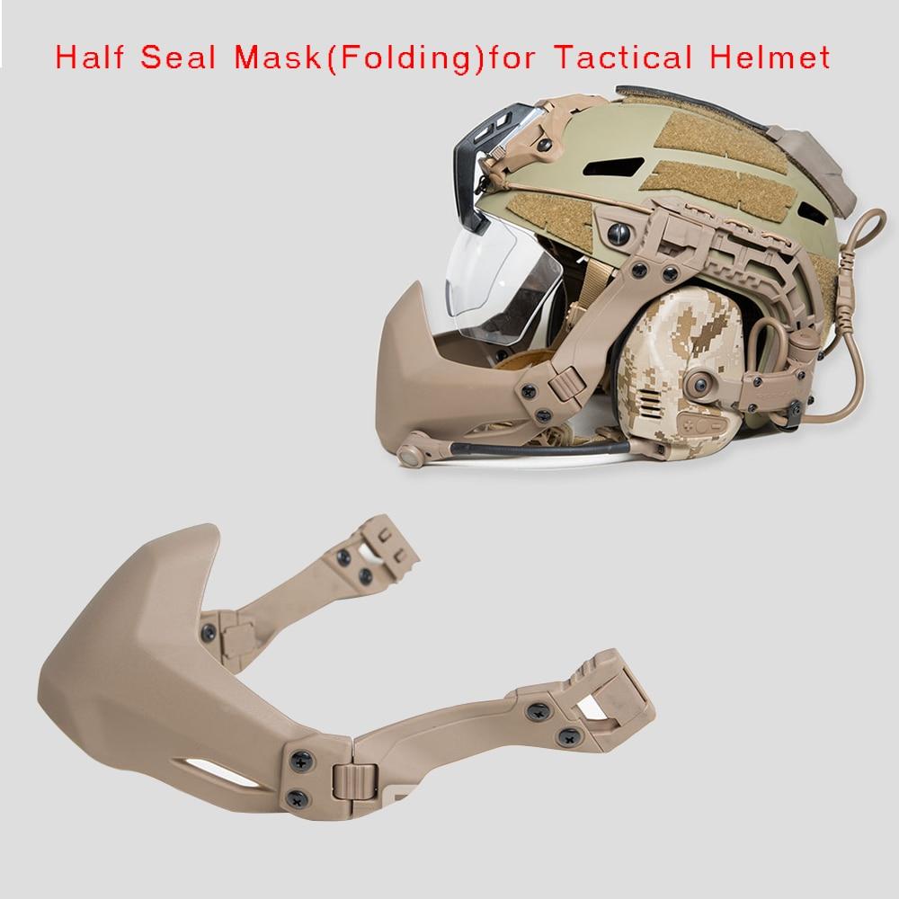 FMA demi-joint masque pour casque tactique accessoires casque darmée en plein air Airsoft masque pliant
