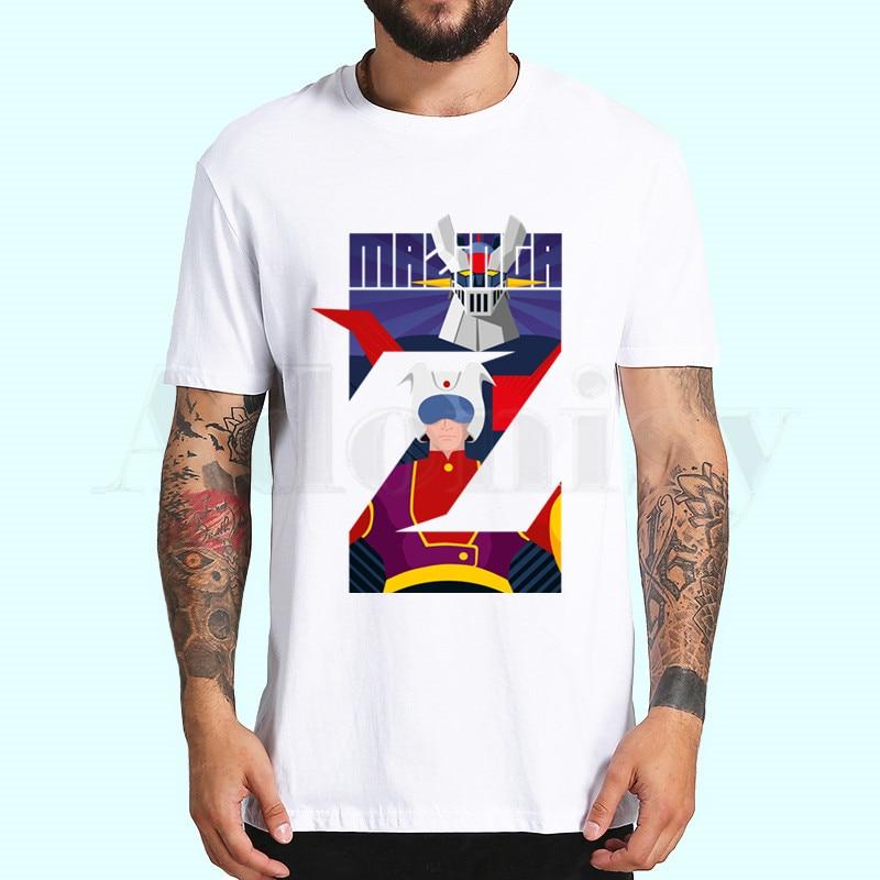 Mazinger Z Manga Robot película impresa camisetas primavera Tops verano Camisetas hombres mujeres de Manga corta Casual Personaity camisetas