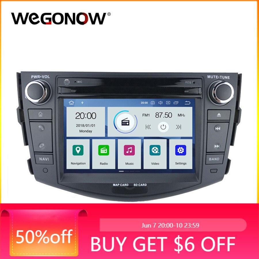 DSP reproductor de DVD de coche PX6 IPS Android 9,0 6 Core 4GB 64GB mapa GPS WIFI Bluetooth 4,2 RDS Radio para Toyota RAV4 RAV 4 2006 - 2012