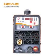 KEYUE MIG-160 Portable welder welding machine MIG MAG 220V synergic DC 5kg Gas Gasless solid flux core ARC 3.2mm lift TIG 3 in 1
