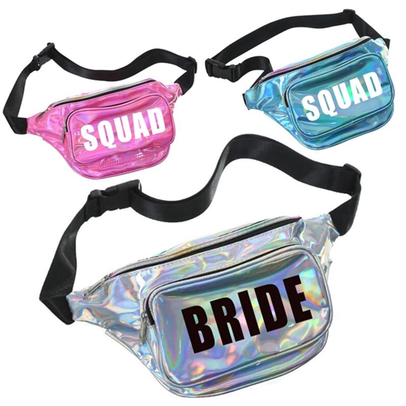 Bolso de la cintura de la novia y la SQUA personalizado que hace el bolso impermeable de los trajes de baño bolsillo del pecho regalos únicos Fiesta del tema de la playa personalizado