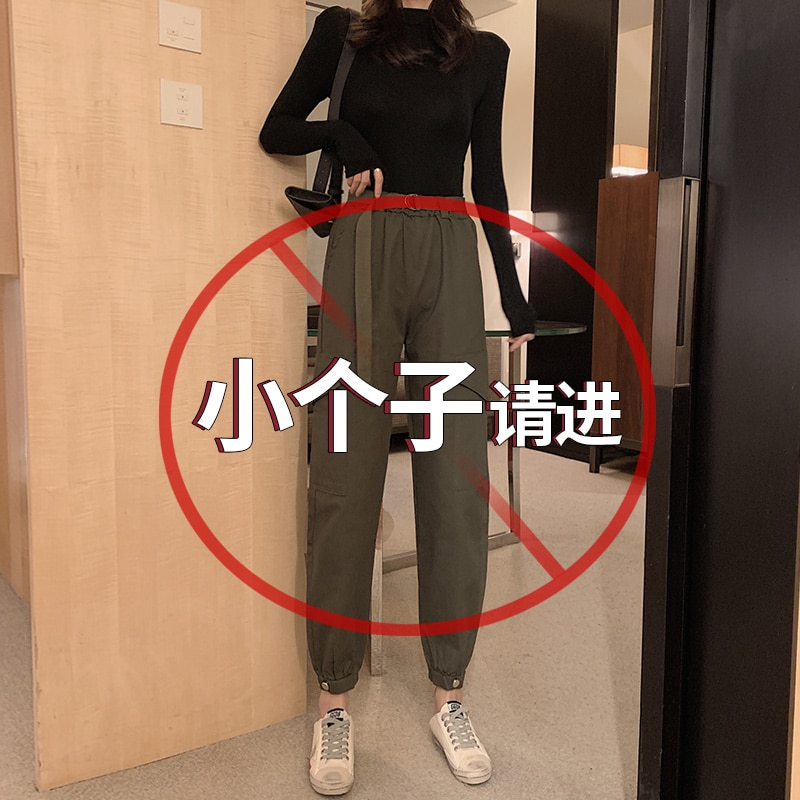 Короткий комбинезон 155, Женский Облегающий комбинезон с завышенной талией, свободные маленькие укороченные брюки 150 см, подходящие ко всему
