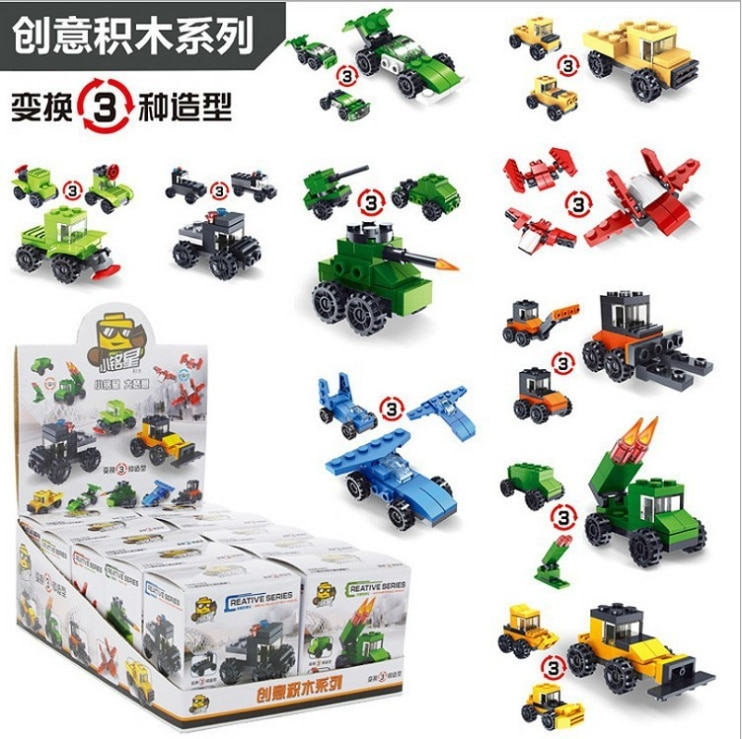 City Bricks For Kids Engineering Bulldozer Crane Technic Truck Building Block Construction Toy For Children Clicking Block