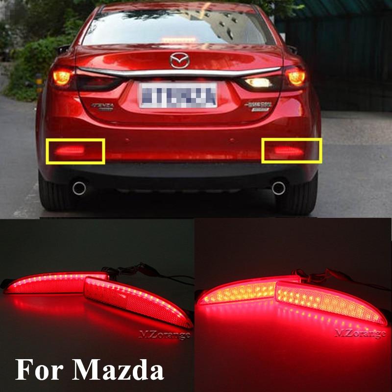 Car-styling Left & Right LED Rear Bumper Reflector Brake Stop Light For Mazda 6 Atenza For Mazda 2 DY For Mazda 3 Axela (CA240)