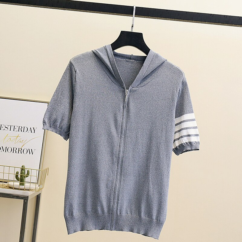 Hooded Thin Sweater Cardigan Women Silk Linen Spring Summer Lace Up V-neck Short Design Loose Cape Cardigans Outerwear Female enlarge