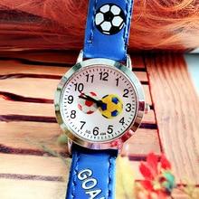Fashion Trend Watch For Kids Boys Kids Quartz Watch Cute Cartoon Football Girl Waterproof Leather St