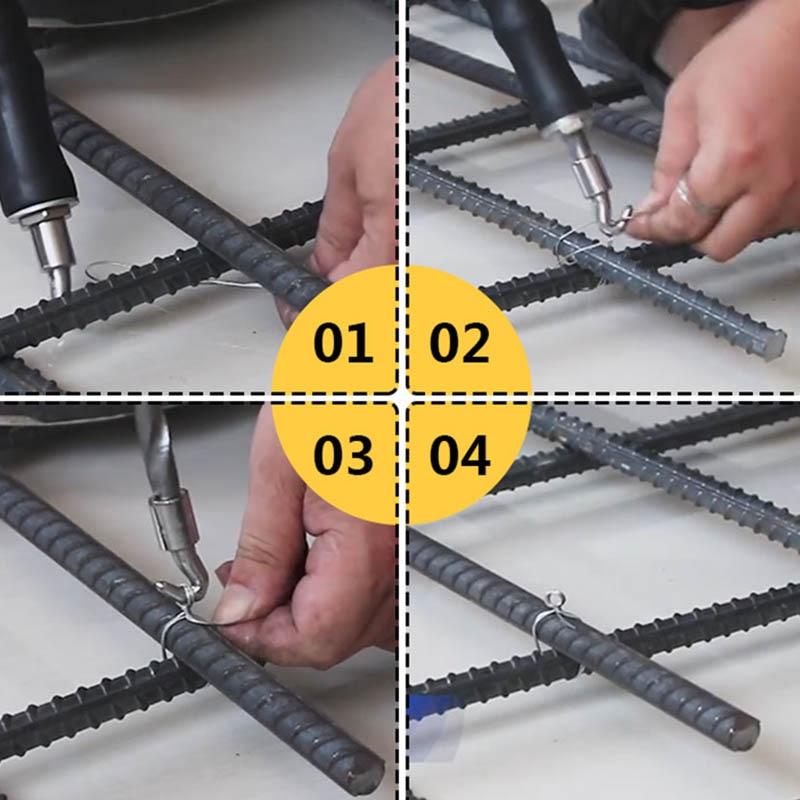 Rebar Tie Wire Twister Semi-automatic Concrete Metal Wire Twisting Fence Tool TUE88