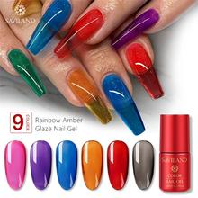 2020 tendance 7ml couleur translucide Gel vernis néon gelée ongles UV Gel vernis tremper hors UV LED Semi Permanent Nail Art Gel Lacuqer