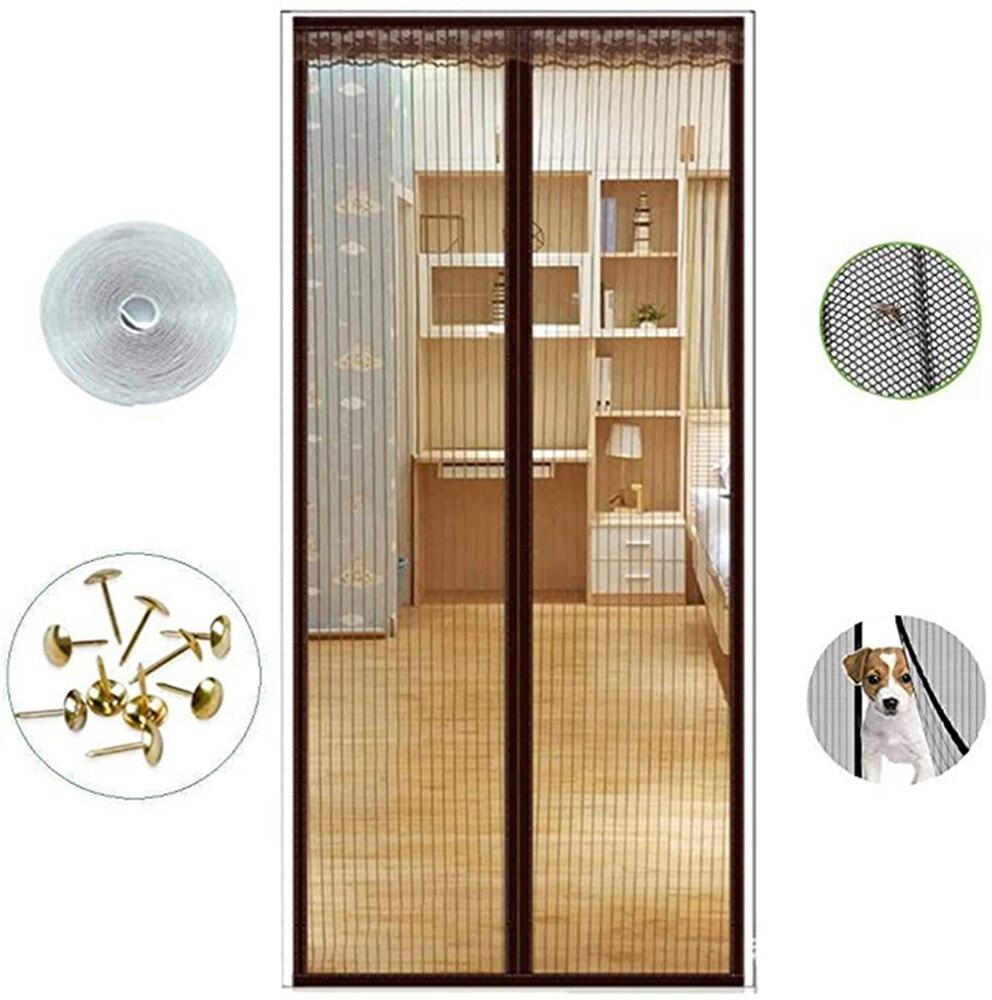 مكافحة البعوض حشرة ذبابة علة الستائر المغناطيسي صافي شبكة التلقائي إغلاق الباب شاشة المطبخ الستار شبكة لباب
