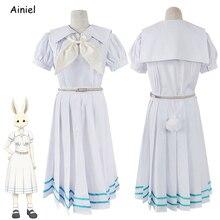 Anime beastars cosplay haru traje lolita haru saia superior arco cinto feminino marinheiro terno meninas coelho branco conjunto uniforme perucas sapatos