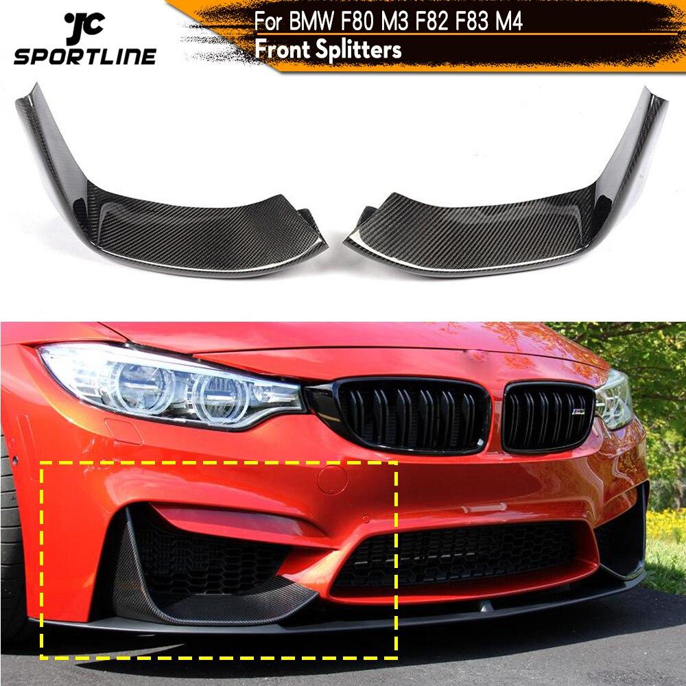مصد من ألياف الكربون لسيارات BMW ، ملحقات السيارة ، المصد الأمامي ، 2 قطعة ، لسيارات BMW 3Series F80 M3 4Series F82 F83 M4 2012 - 2018