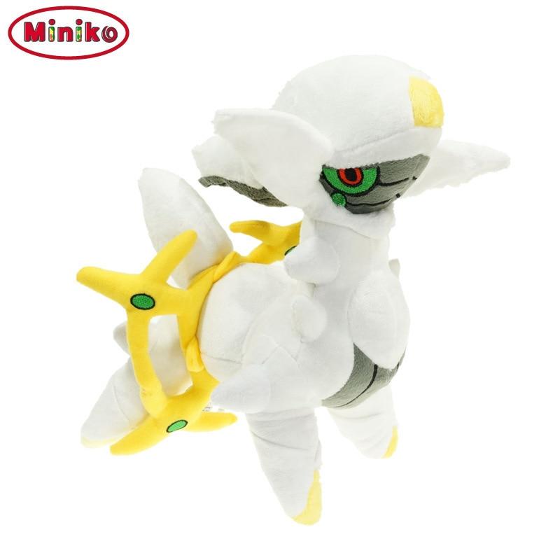 Miniko New Arrivals Cute Japanese Anime 30CM Arceus Plush Doll Stuffed Toy Doll Model Birthday Best Gift For Children Boys Toys