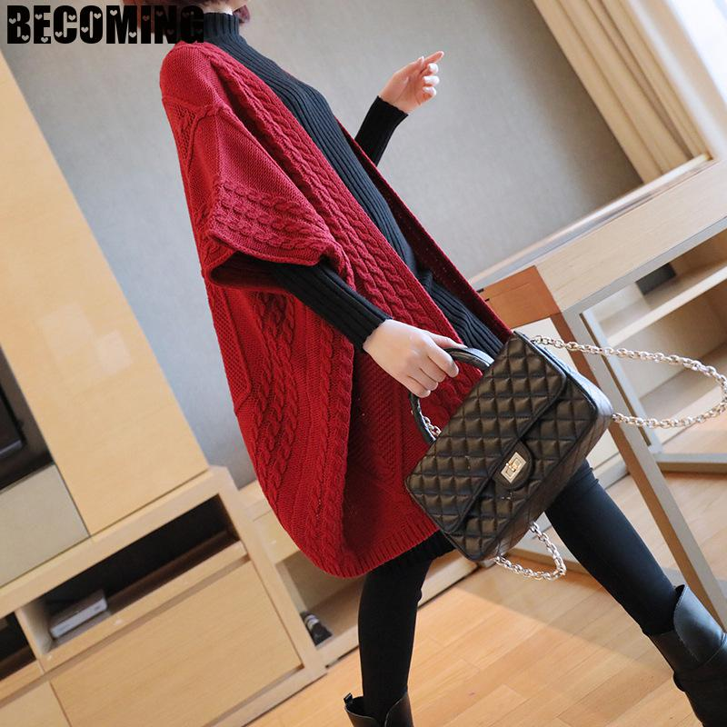 Winter Maternity Sweater Women Thick Knitted Cardigan Long Sweater Autumn Loose Large Sweater Coat Pregnent 1661008 enlarge
