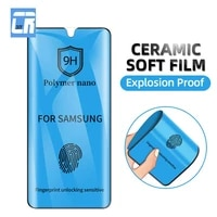 explosion proof soft ceramic film for samsung galaxy note 10 8 9 s8 s9 s10 s20 plus screen protector galaxy s21 s20 ulrta film