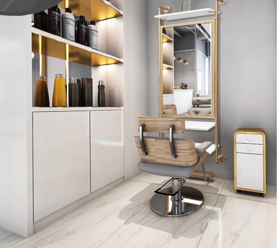 Парикмахерская зеркала стоят Простые современные зеркало для салона красоты салон специальные односторонняя Парикмахерская зеркала стен...