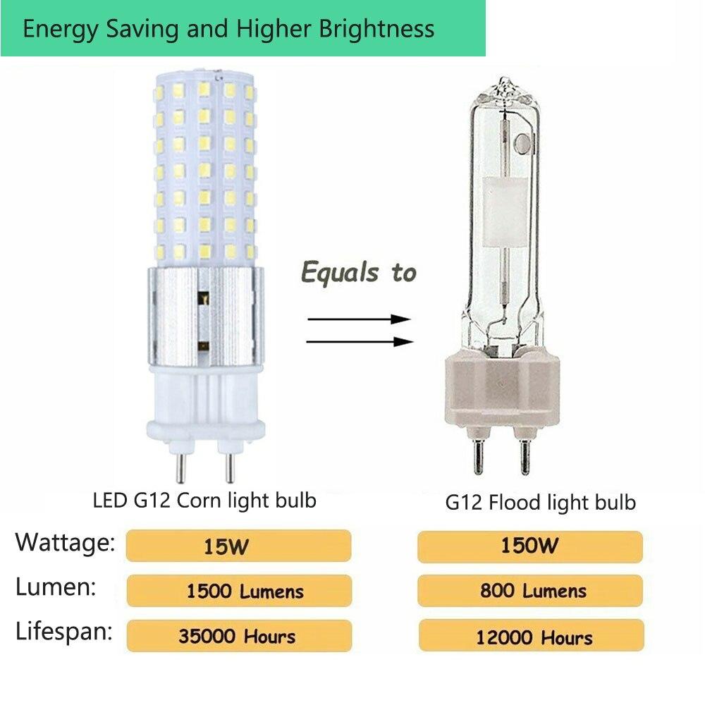 10Pcs G12 15W LED Corn Bulb No Flicker Lamp SMD 5730 96LEDs Lighting Street Light Replace 150W Halogen Lamp For Home 110V 220V enlarge