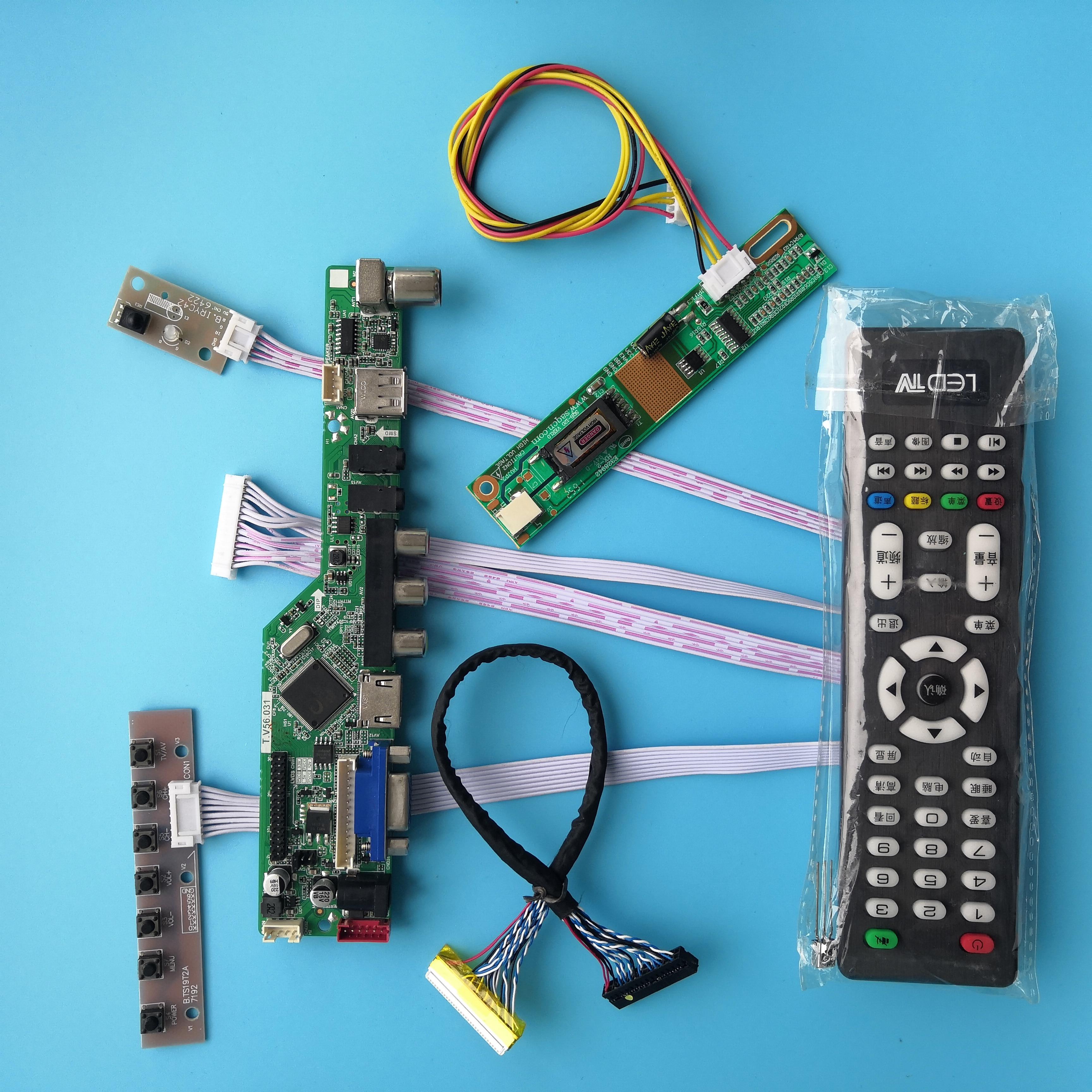 ل B141PW01 V0/V1/V2/V3/V4 30pin USB وحدة 1 مصابيح 14.1