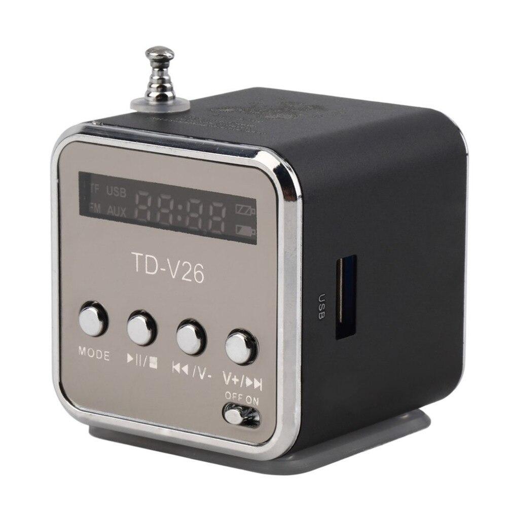 5 colores portátil Radio FM RECEPTOR Mini altavoz Digital LCD sonido Micro SD/TF música estéreo altavoz para teléfono portátil MP3