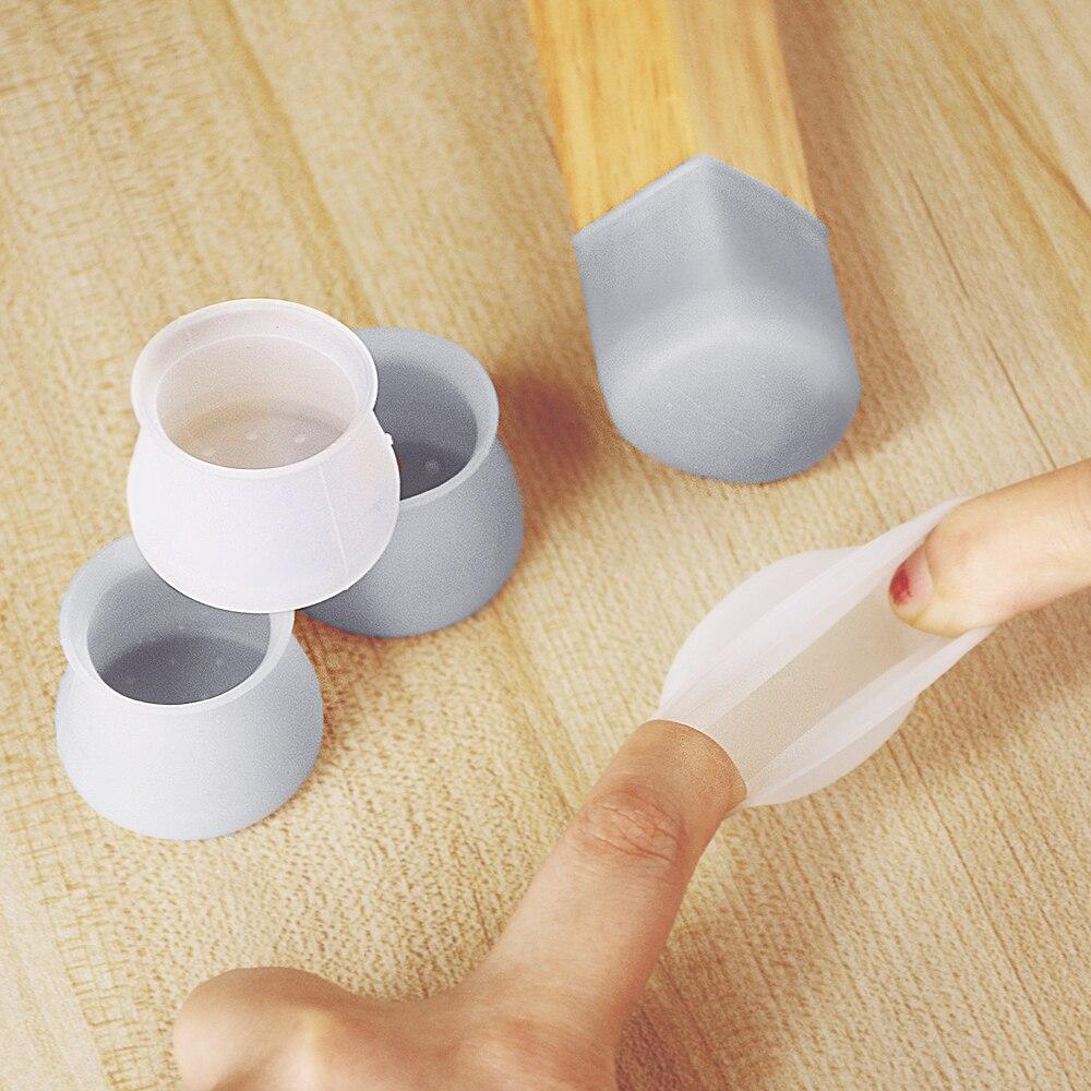 Tapis de Protection des pieds de Table   En Silicone, antidérapant, couvre-pieds de chaise de Table, protecteurs de sol en bois 8 pièces/lot