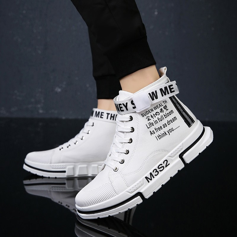 New trendy brand Korean version of all-match comfortable casual high-top canvas shoes sports comfort
