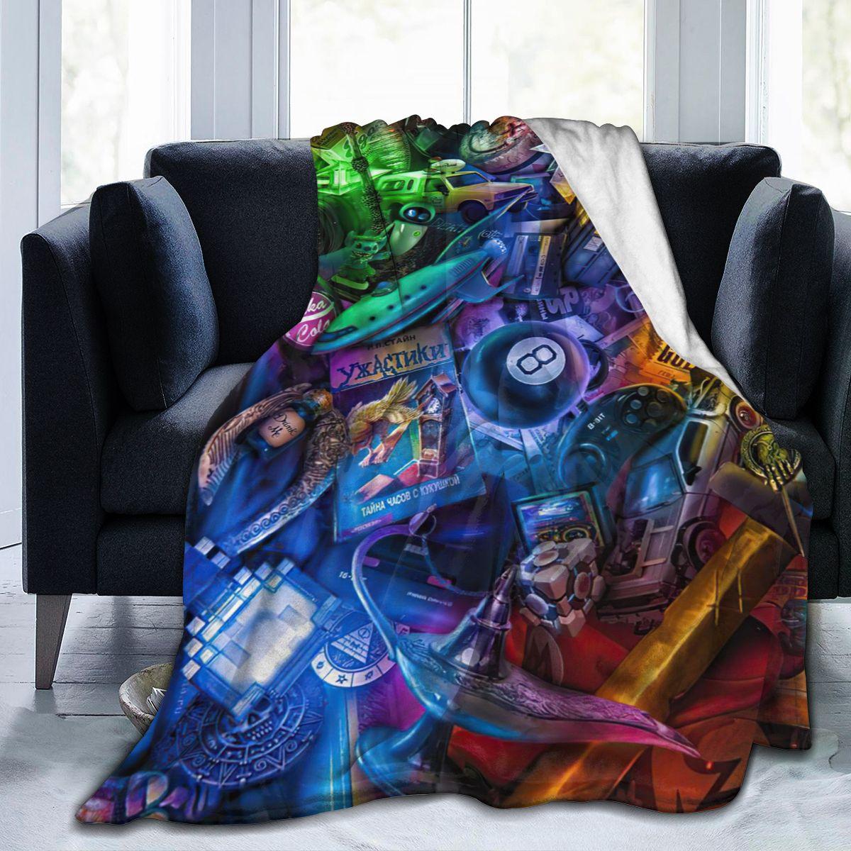 الترا لينة أريكة غطاء بطانية بطانية الفراش الكرتون الكرتون الفانيلا Plied أريكة ديكور غرفة نوم للأطفال والكبار مانتا