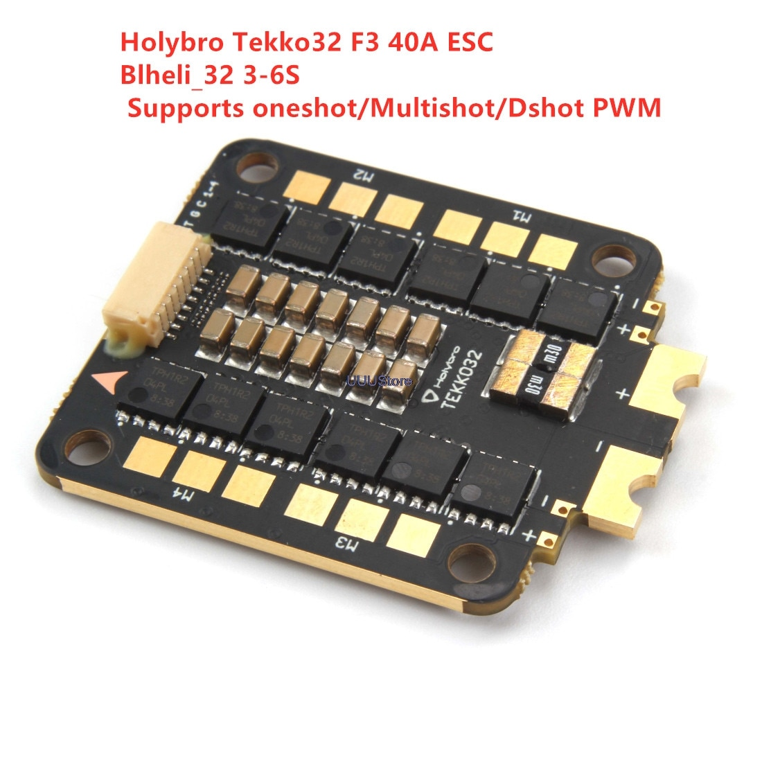 Holybro tekko32 f3 40a blheli_32 3-6 s 30.5x30.5mm 4 em 1 sem escova esc suporta oneshot/multishot/dshot pwm para rc zangão