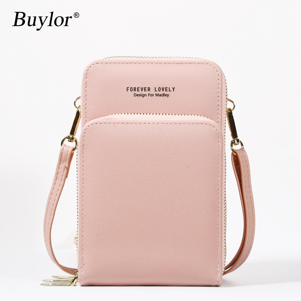Buylor Crossbody CellPhone Bag Mini Summer Shoulder Bag Card Holder PU Leather Wallet  Small Phone Pouch Women Messenger Bag