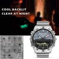 north edge men dive sports digital watch mens watches military army luxury full steel business waterproof 100m altimeter compas