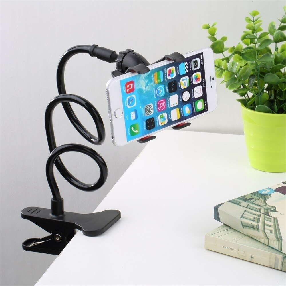 عالمي حامل هاتف المحمول مرنة قابل للتعديل حامل الهاتف الخلوي حامل هاتف كليب كسول المنزل السرير سطح المكتب جبل قوس حامل هاتف ذكي