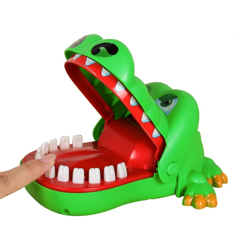 2019 укус рта палец игрушка Большой Крокодил тянет зубы бар игры игрушки дети смешные игрушки для детей подарок
