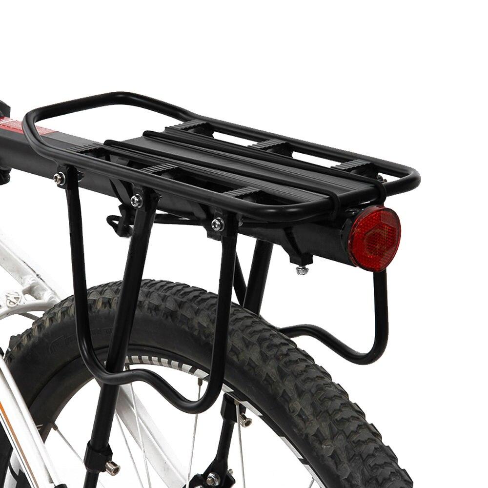 Soporte trasero para bicicleta, estante trasero para bicicleta, portaequipajes trasero para bicicleta de carretera, soporte de carga para bicicleta de montaña, soporte de lámina reflectiva ligera porta equipaje bicicle