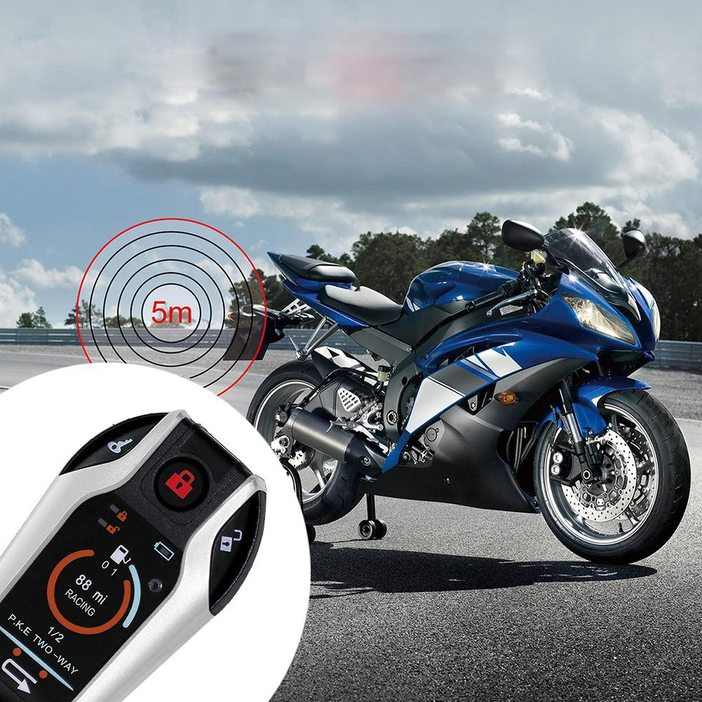 Motorcycle Anti-theft Two-way Alarm With PKE Automatic Induction Start Flameout Function Motorbike Burglar Alarms