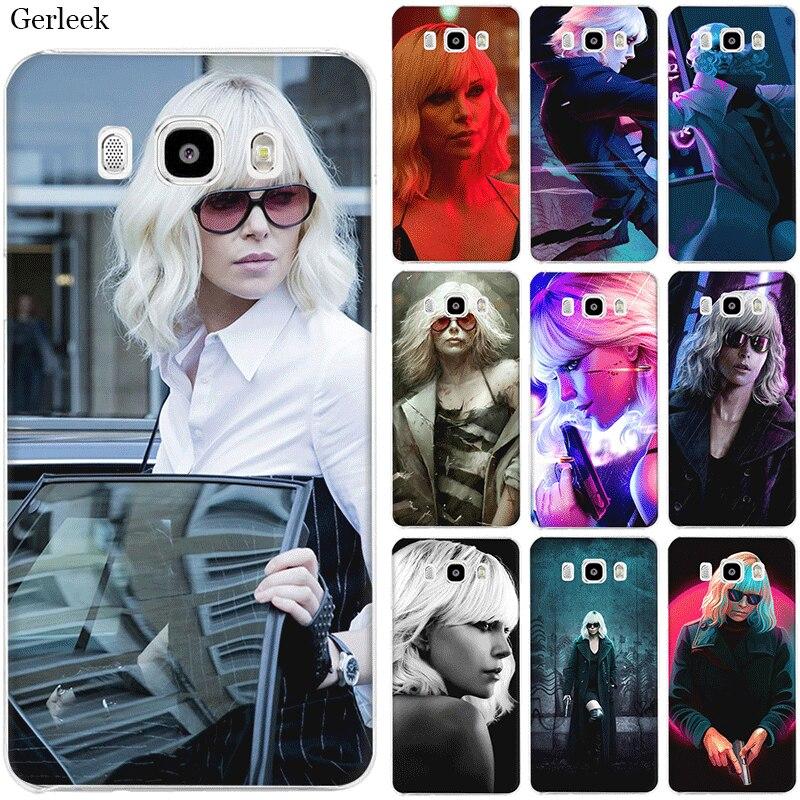 Phone Case for Samsung Galaxy J1 J2 J7 J5 J6 J3 Prime Hard Cover Protection the film  Atomic Blonde