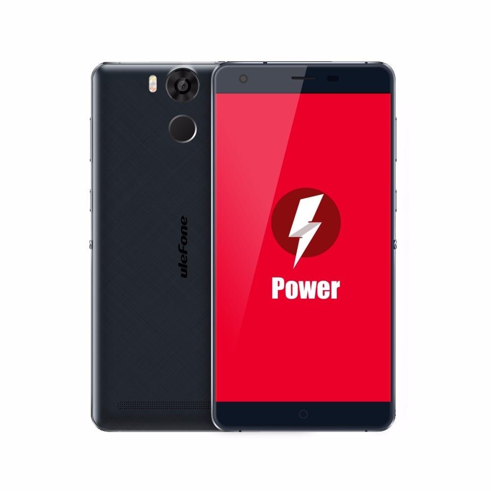 Smartphone ulefone Power gran batería 4G LTE 5,5 pulgadas FHD MTK6753 Octa Core Android 5,1 teléfono móvil 3GB RAM 16GB ROM 13MP