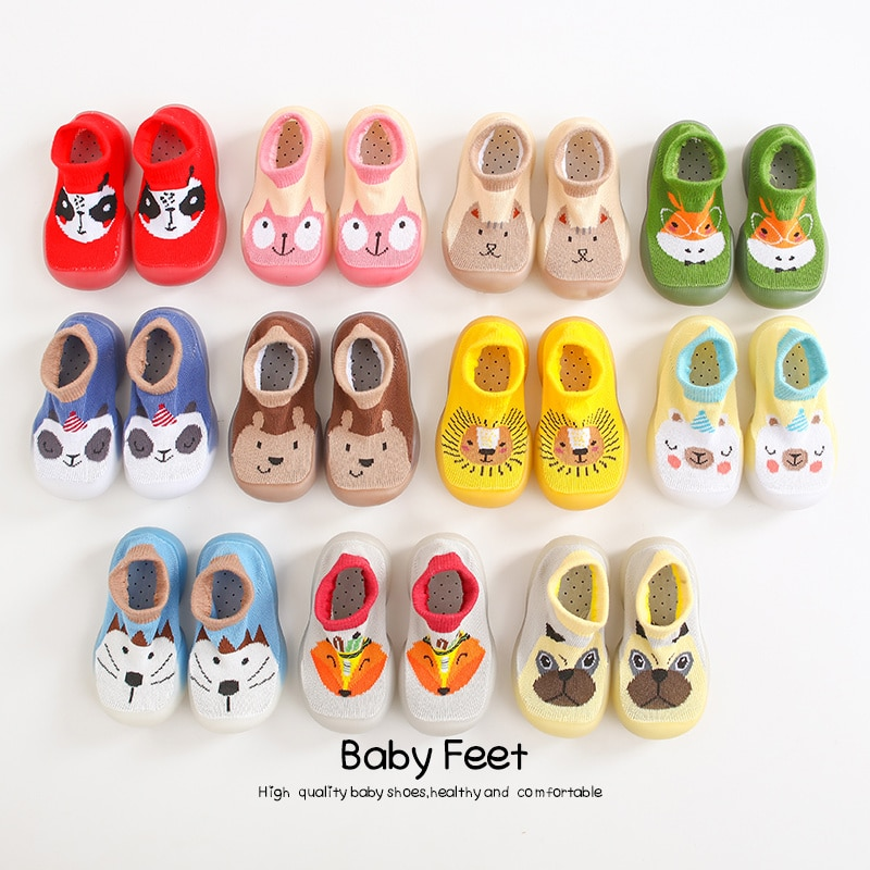 baby socks shoes Boy Girl Fashion Toddler Shoes Anti-Slip Soft Rubber shoes animal style 2020 new ar