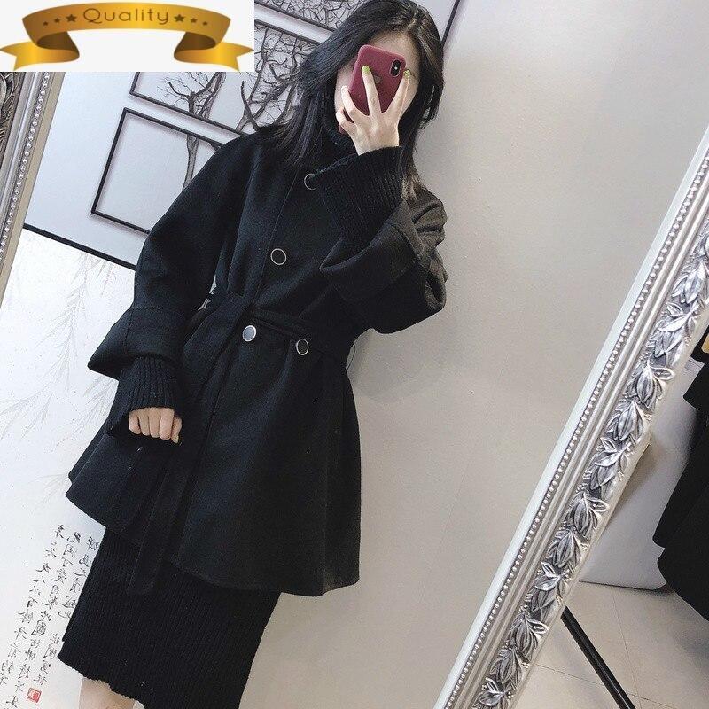 Abrigo de lana Vintage, mujeres abrigo de Invierno mujeres de doble lado...