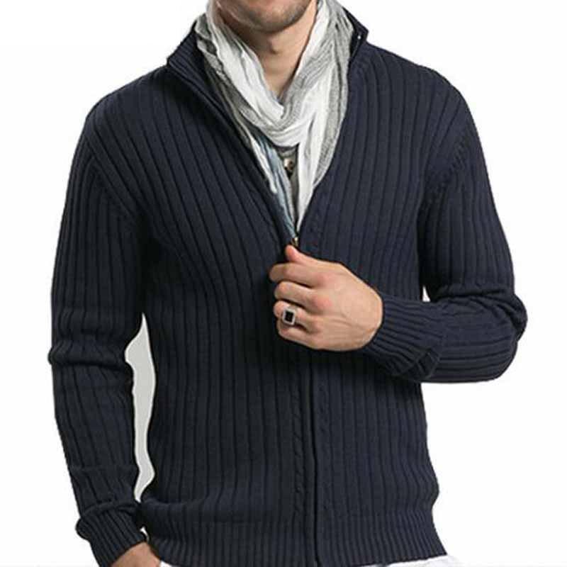 2020 мужские повседневные свитера с воротником-стойкой и Рождественская трикотажная одежда узкая юбка-карандаш с кардиганы с молниями