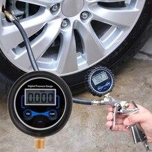 """0-200PSI LCD cyfrowy wskaźnik ciśnienia w oponach samochodów Auto opona motocyklowa miernik PSI powietrza 1/8 """"NPT precyzja 0.01Bar"""
